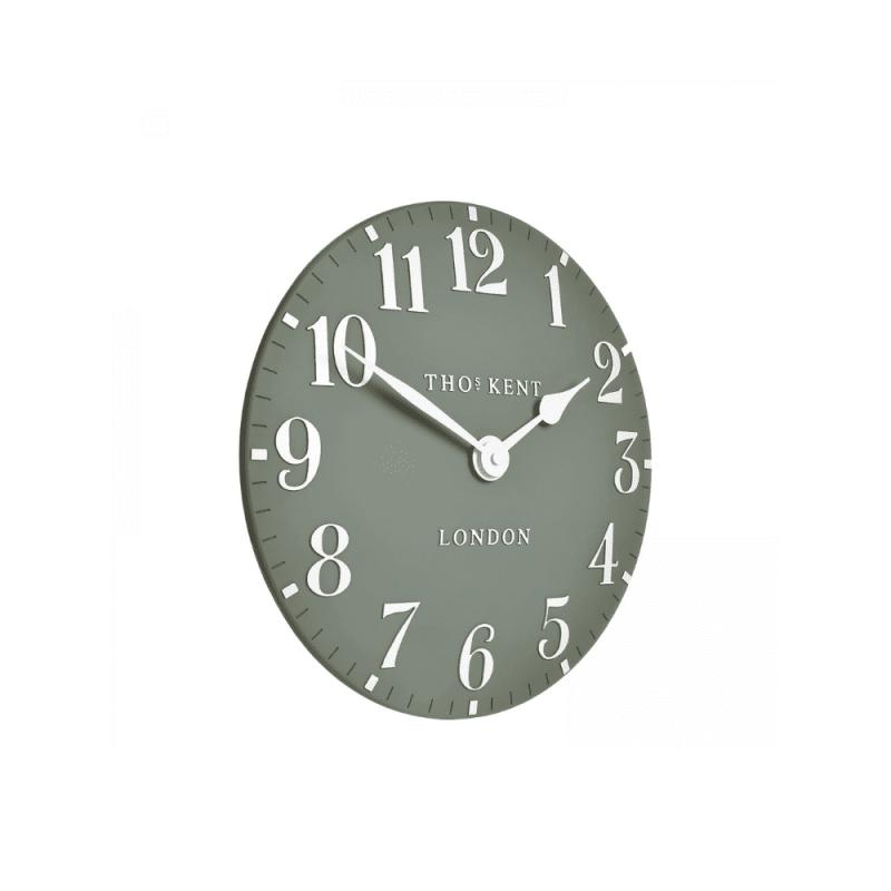 Thomas Kent 12inc mantle clock seagrass