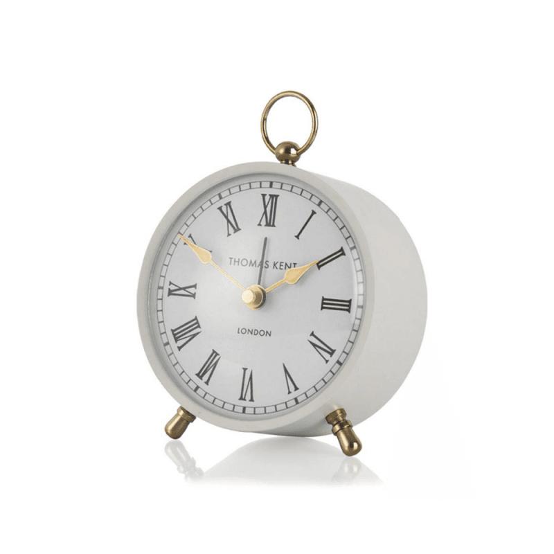 Thomas Kent 4″ Wren Mantel Alarm Clock – Smoke
