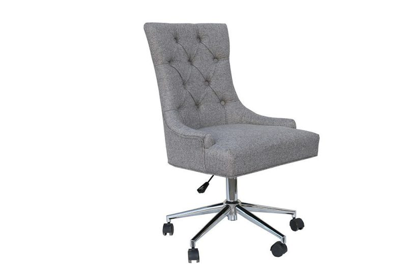 grey winged office chair 3