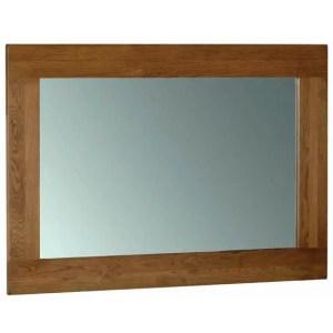 sudbury oak rustic mirror 130cm x 90