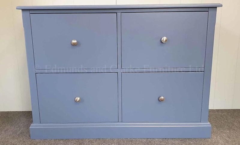 low painted four drawer filing cabinet, with full extension runners