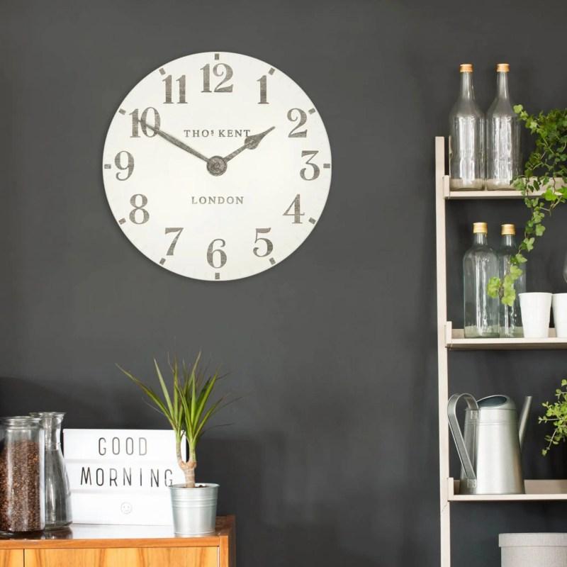 thomas kent arabic wall clock 12 inch limestone v2