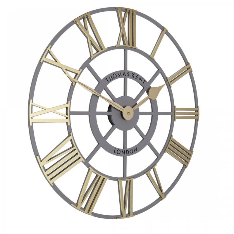 "Thomas Kent 24"" Evening Star Wall Clock Brass and Gold"