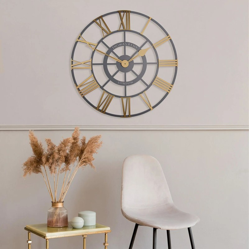 Evening star wall clock room shot