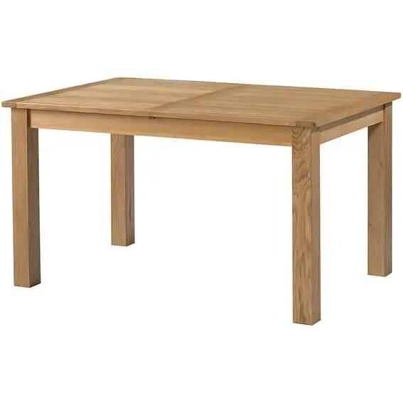 BF009 Burford oak extending dining table 140cm