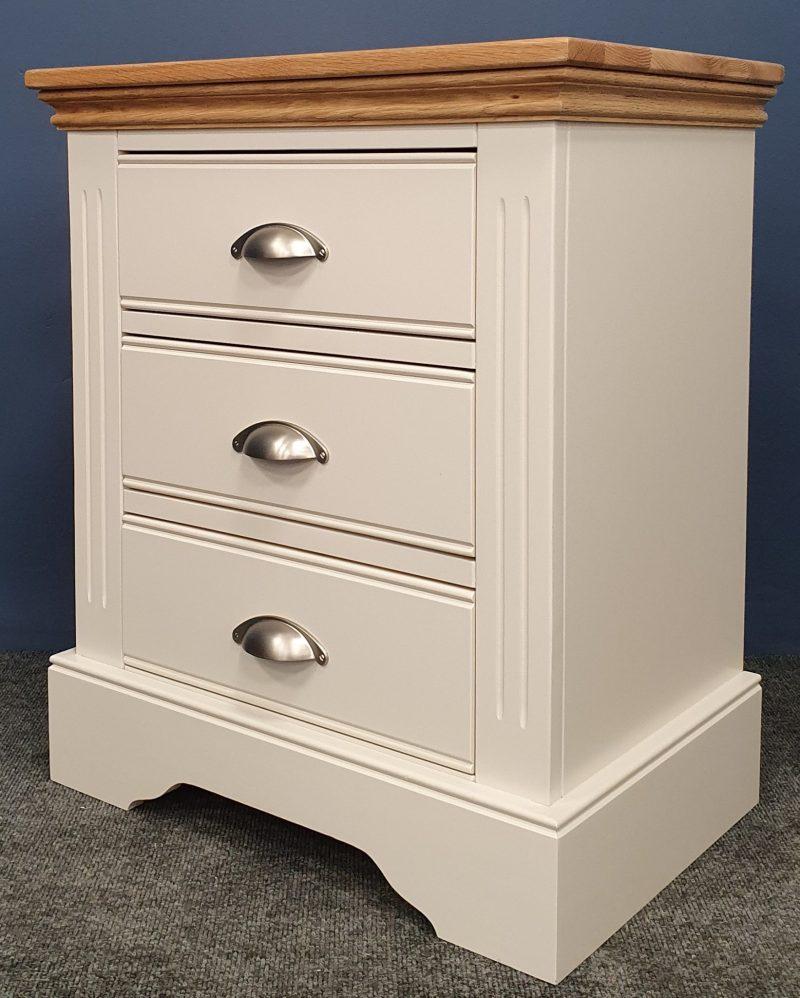 Clarke WIDE 3 drawer bedside V2