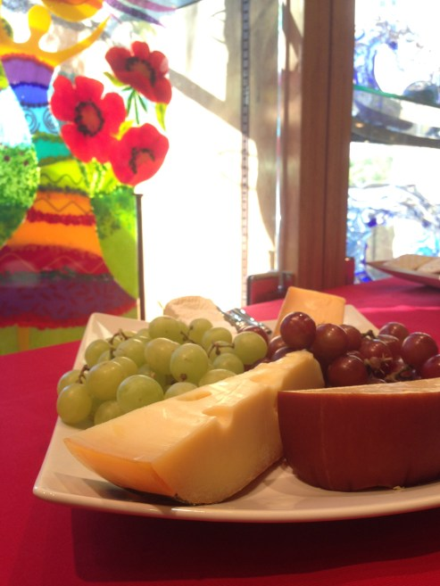 Cheese, wine, hors d'oeuvres and desserts were served during the three-day long exhibition.