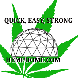 "Heavy duty stickers 4.1"" x 3.6"" These die-cut, heavy duty stickers last for years, and stick to many surfaces! Great way to support Hemp Dome and environmental building construction!"