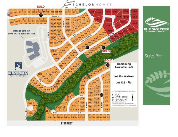 Echelon Homes - Blue Sage Creek - Remaining Available Lots - Lot 50, Lot 125