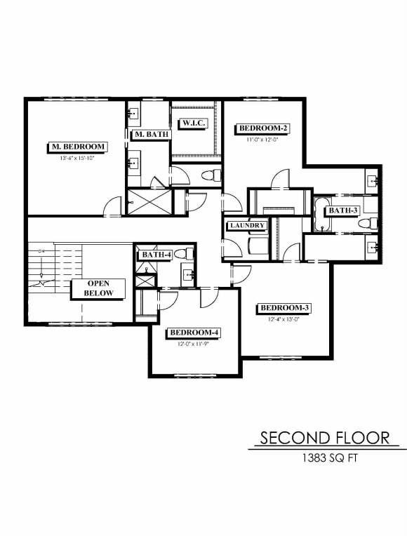 Summit plan second floor