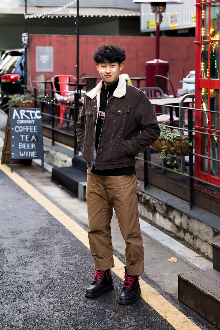 Cho Hyunjin, Street style men winter 2017 inseoul