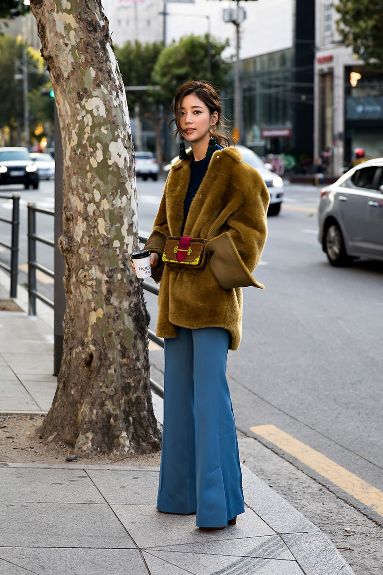Gi Eunse, Street style women winter 2017 inseoul