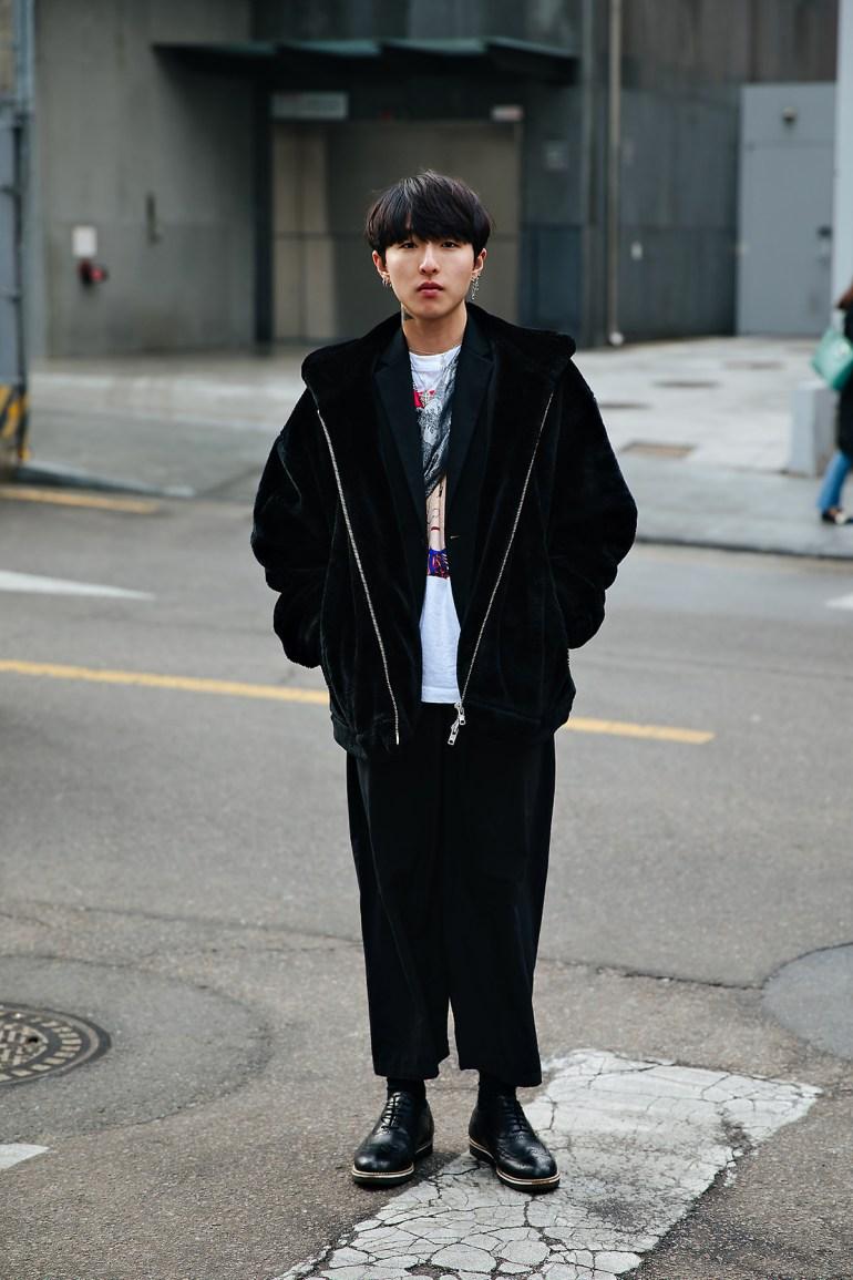 Jung Seunghoon, Street style men winter 2017-2018 inseoul