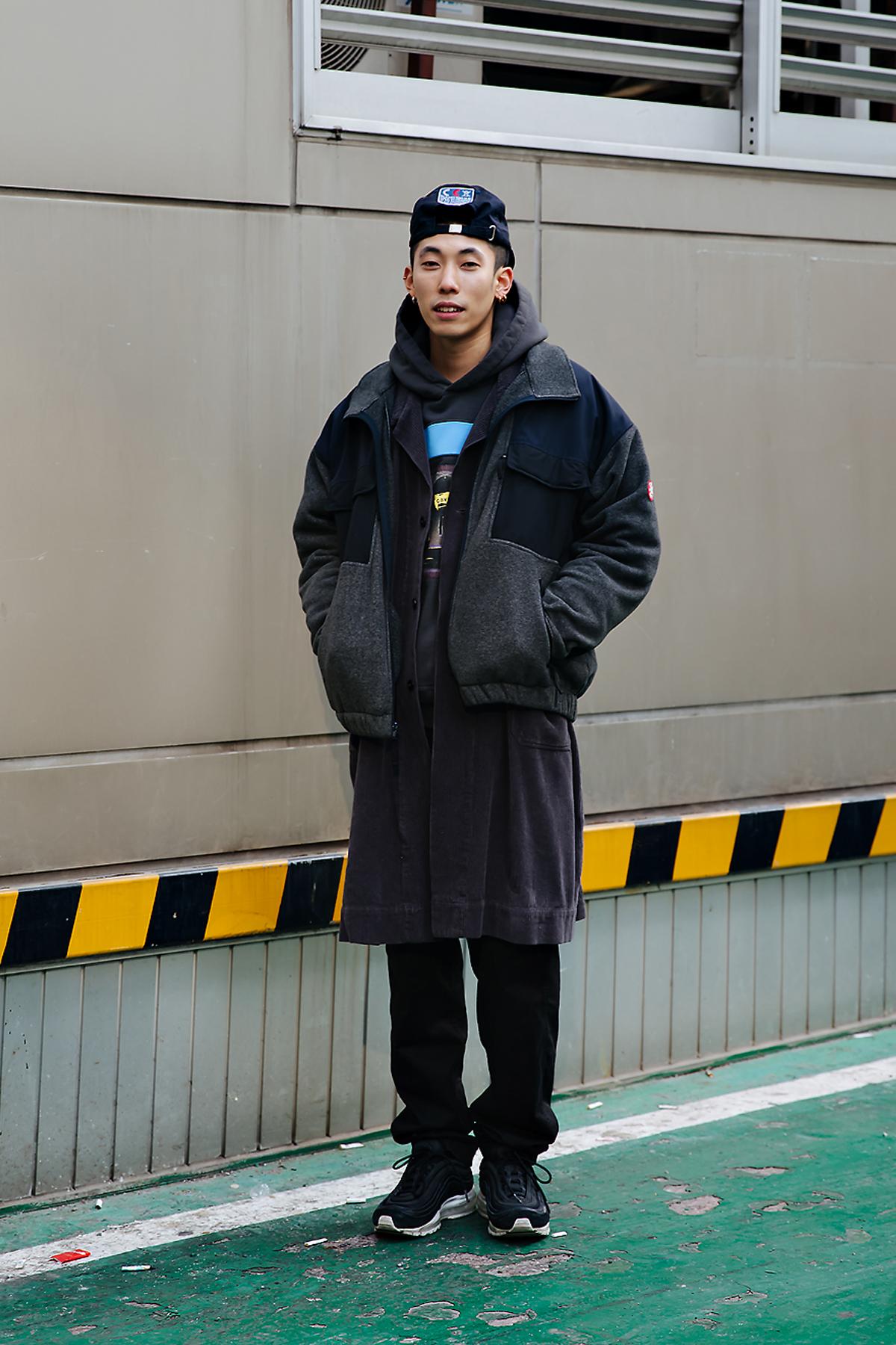 Kim Jinwook, Street style men winter 2017-2018 inseoul