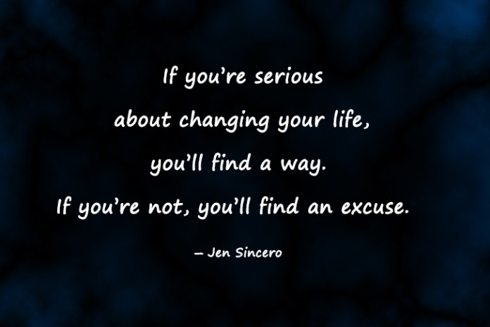 Daily Motivational quotes image about excuses and success: Do you think you are unable to change your life due to obstacles? Then look at the successful people around you and ask them if theirs were easy rides. No one has ever succeeded without facing problems. The biggest problem is your thinking that you can not achieve it. Leave excuses behind and start finding solutions to each problem you are facing in pursuit of changing your and others' lives.