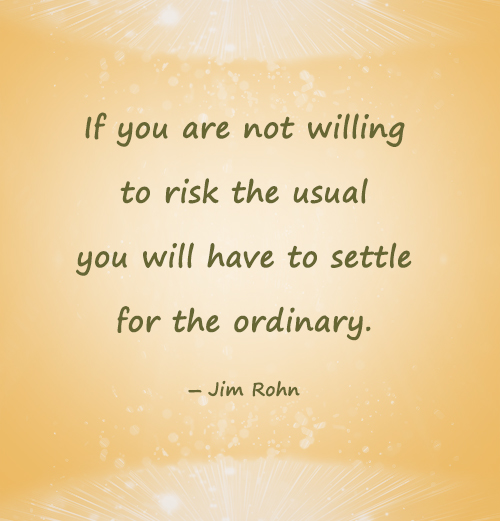 Daily Motivational quotes image about importance of risk taking