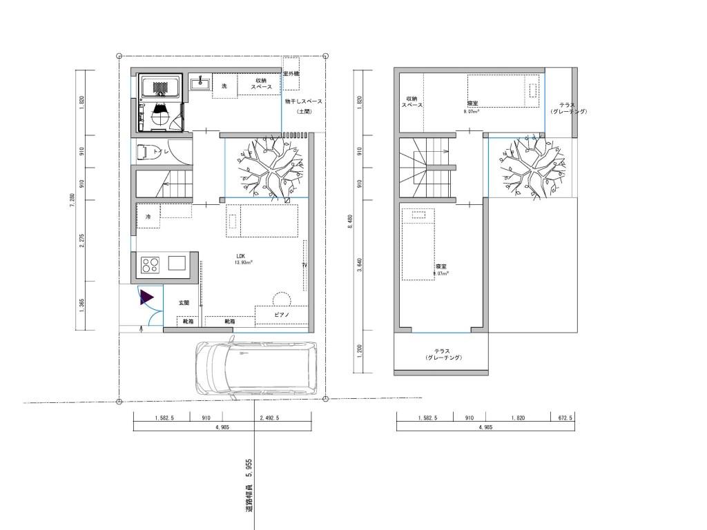 ローコスト住宅平面図