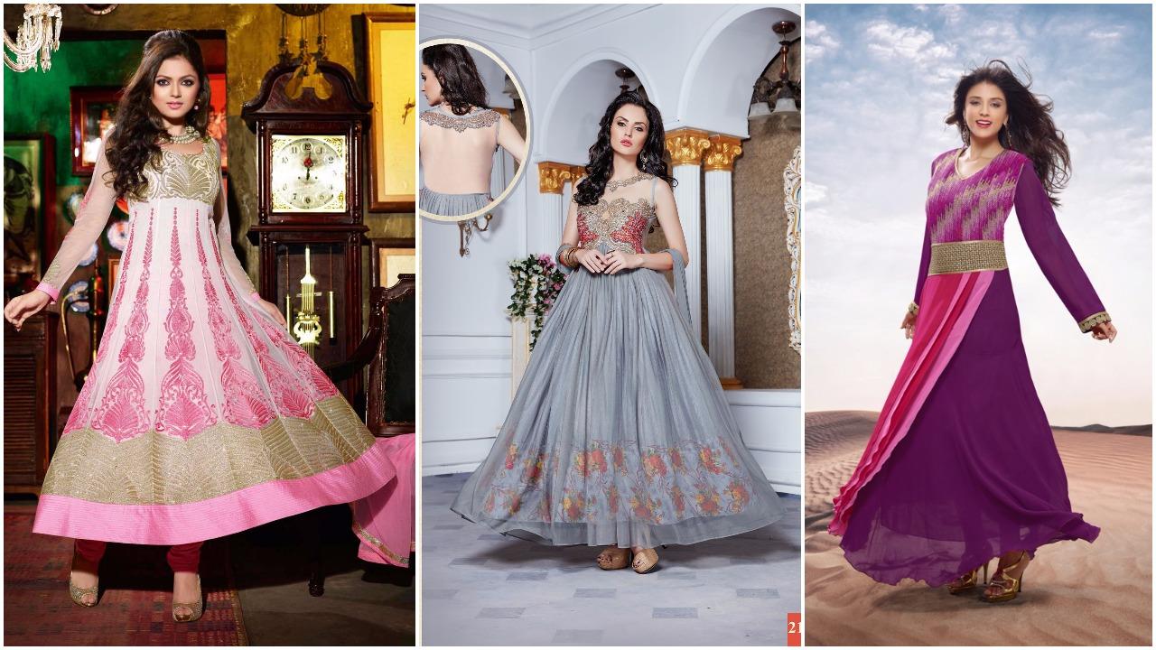 شاهدي جديد الفساتين الهنديه الرائعه 2016 - 2017