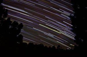 Star trails photo by Kira Roberts.