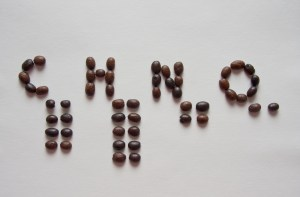 The chemical formula for caffeine in coffee beans. Photo used under Creative Commons License