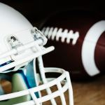 Football and Football helmet