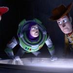 Jessie, Buzz, and Woody hiding