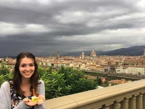 Kaitlyn Williams in Florence, Italy