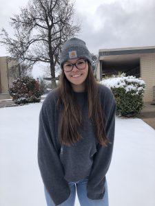 Rachel Weiss in the snow