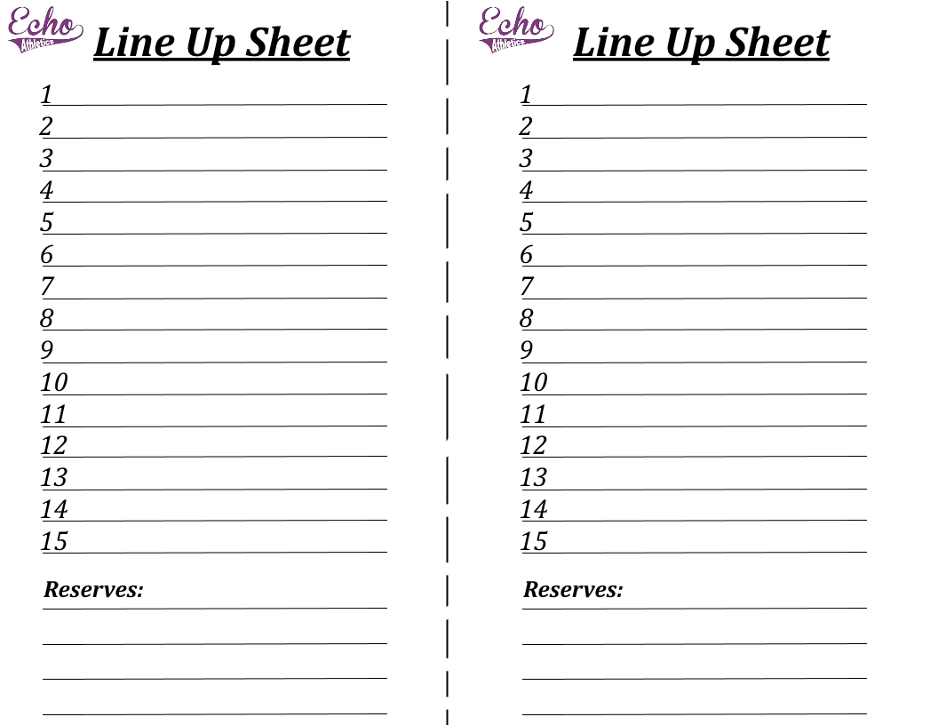 Search Results For Blank Volleyball Lineup Sheets