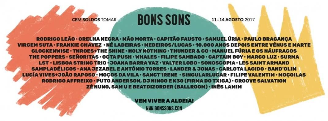 Cartaz completo do Bons Sons 2017