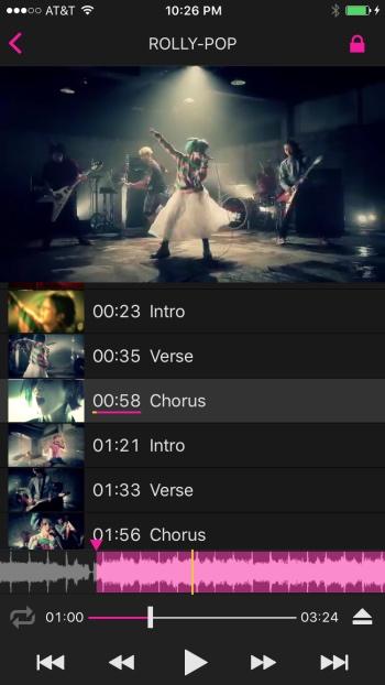 「PlaySections」- iPhone / iPad対応の耳コピ、楽器、ボーカル、ダンスの練習に便利なオーディオ・ビデオプレーヤーアプリ