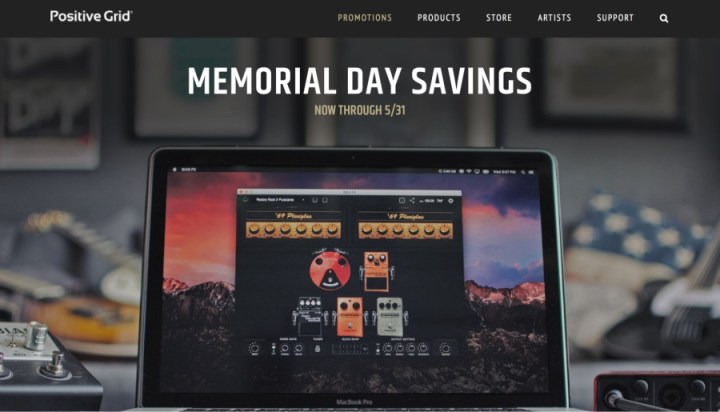 Positive Grid Memorial Day Savings
