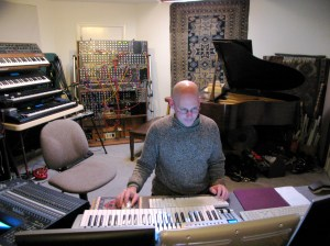 Robert Rich Recording for Echoes in his studio.