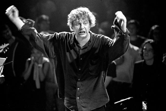 Glenn Branca conducting