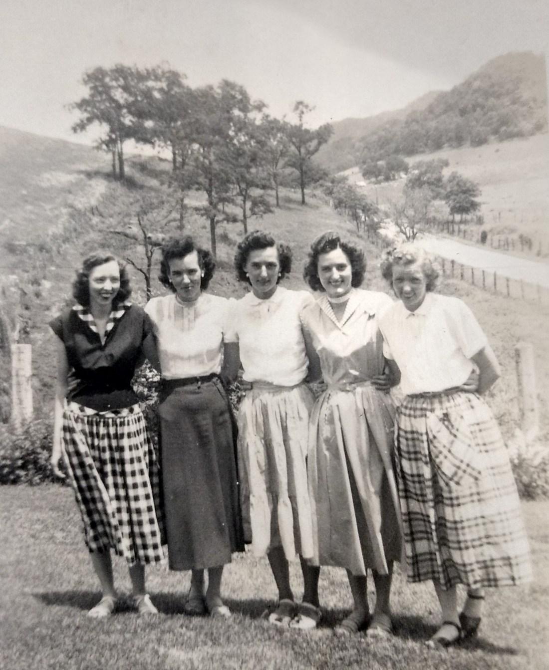 Helen, Betty, Claudine, Christine, Rachel