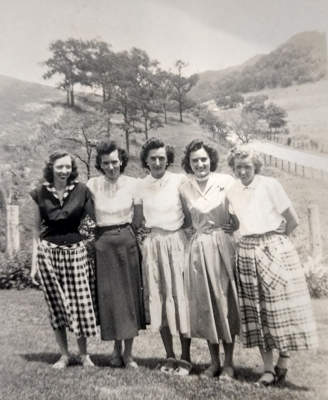 Helen, Betty, Claudine, Christine, Rachel