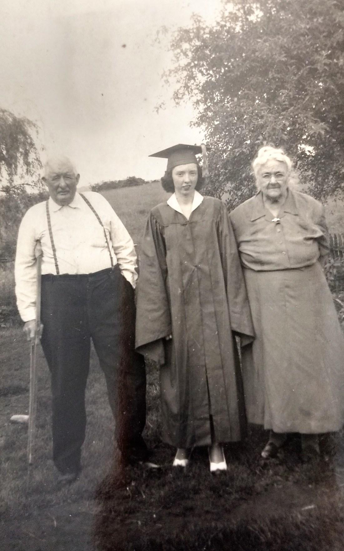 Grandad Garman, Helen, Grandma Garman 1950