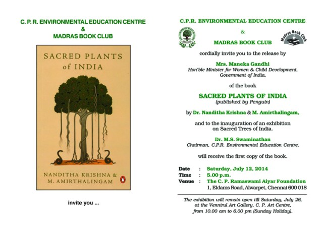 Sacred Plants of India Book Release Invitation mail-1