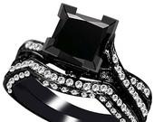Optimized-black diamond ring