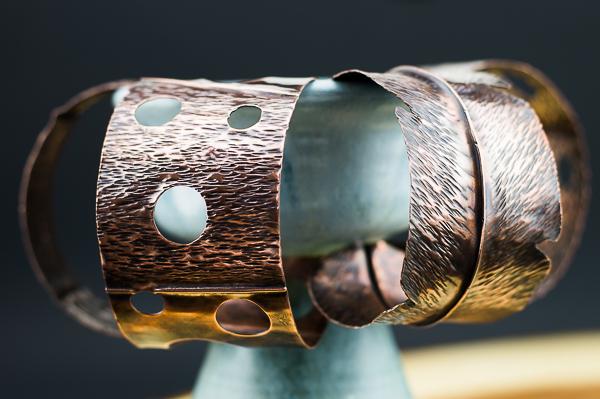 hammered copper cuffs
