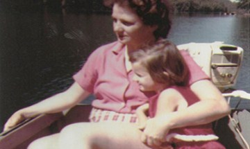 Present owner Ingrid Kmyta as a child at Echo Lake Resort