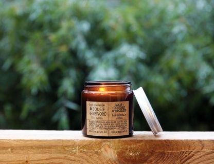 box jardinage avec la lune : bougie vegan herbivore, made in paris, poudre d'étoile, coulé à la main à belleville, parfum naturel