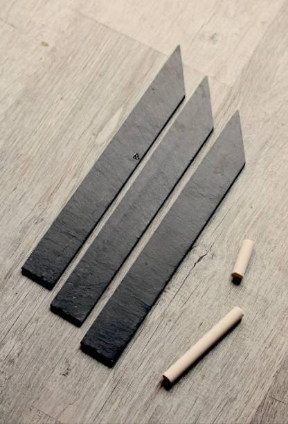 étiquette noir ardoise à piquer fabriqué en France à Angers, box jardinage | Échoppe Végétale