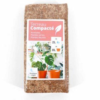 terreau compact sans tourbe, fibre de coco, 8L, potager de balcon, jardinin, floentaise, jardin appartement,