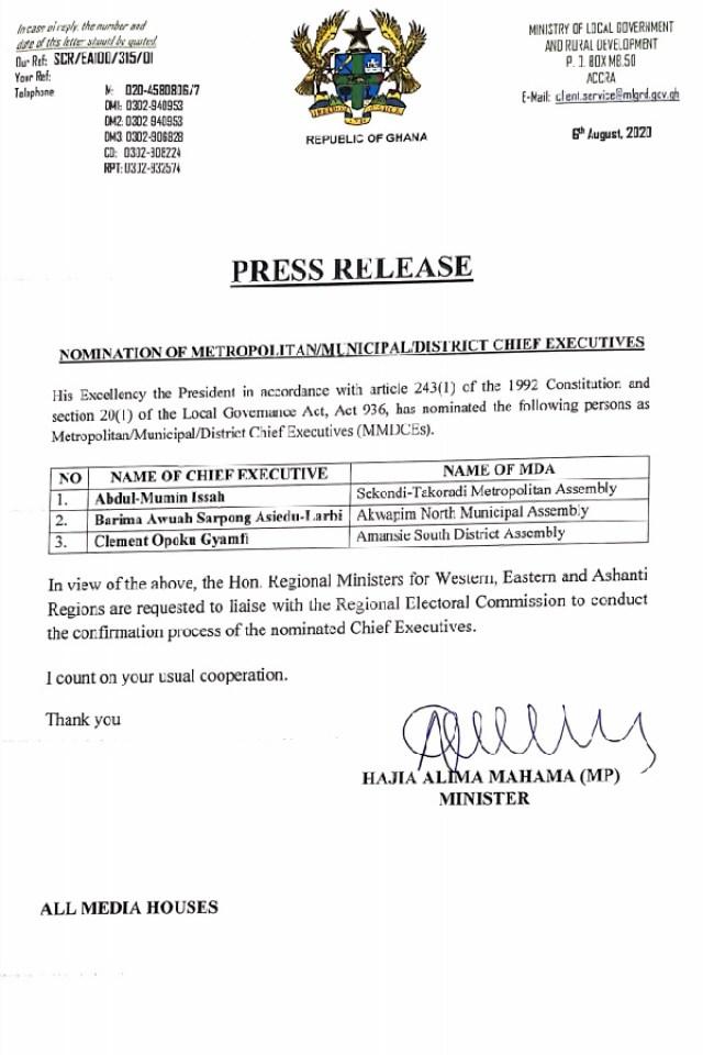 58939464 200x300 - Akufo-Addo sacks 2 local govt chief executives
