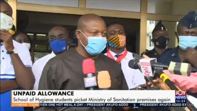 unpaid 300x169 - School of Hygiene students picket Sanitation Ministry over unpaid arrears