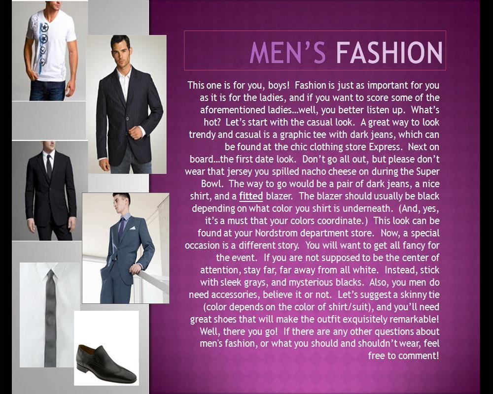 Kate Men's Fashion