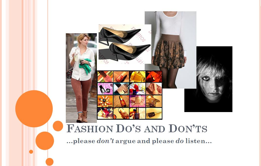 FASHION DOS AND DON'TS INTRO