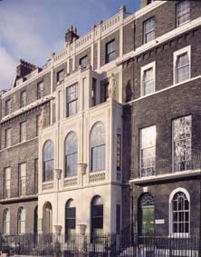 Facade of Sir John Soane's museum London