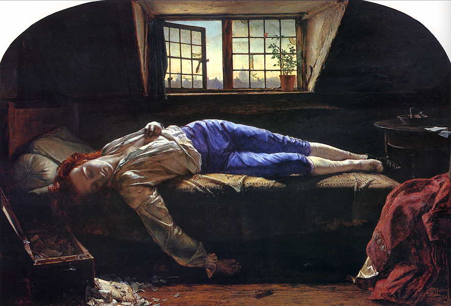 death of chatterton by henry wallis 1856